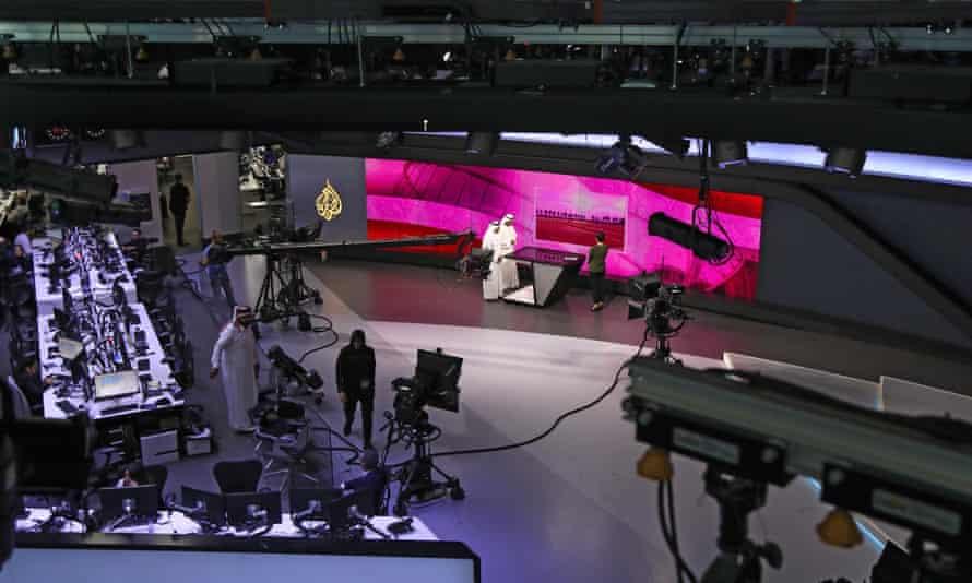 The Al Jazeera newsroom in Doha, Qatar