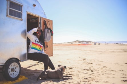 Alexandra Keeling at the Ocean Dune state vehicular recreation park, California, from a feature in the Black Explorer.
