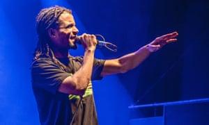'The air of a civil rights orator' ... Akala performing at Shepherd's Bush Empire.