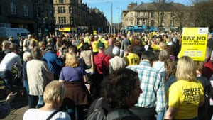 A march attended by Aire Valley Against Incineration (AVAI) supporters