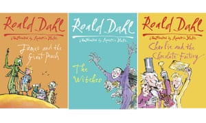 James and the Giant Peach, The Witches and Charlie and the Chocolate Factory by Roald Dahl.