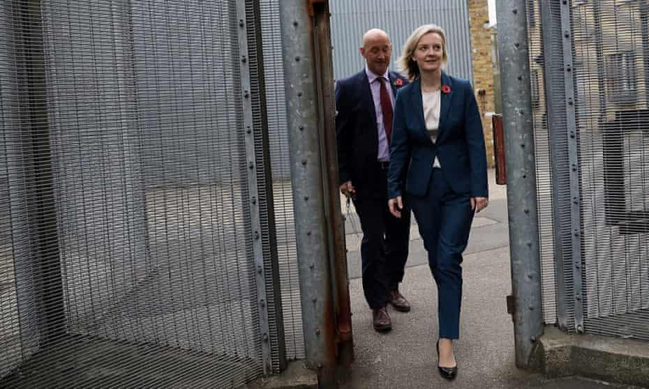 Elizabeth Truss visits HMP Brixton.