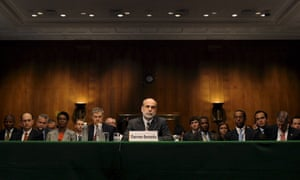Bernake testifies on federal bailout plan on Capitol Hill<br>US Federal Reserve Chairman Ben Bernanke appears at a Joint Economic Committee hearing on the federal economic bailout plan, on Capitol Hill in Washington, DC, USA on 24 September 2008. The Bush administration is pushing the Congress to pass a 700 billion dollar government bailout plan to rescue financial institutions.  EPA/SHAWN THEW