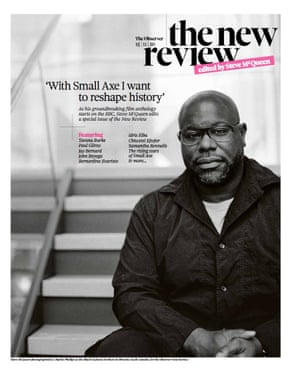 The cover of the Observer New Review, edited by Steve McQueen.