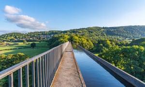 Pontcysyllte Aqueduct in North Wales.