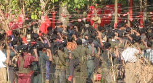 A Maoist conference in a forest, from Nightmarch by Alpa Shah.