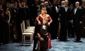 Anna Netrebko as Lady Macbeth in a 2014 production of Verdi's Macbeth streaming on the Metropolitan Opera's site
