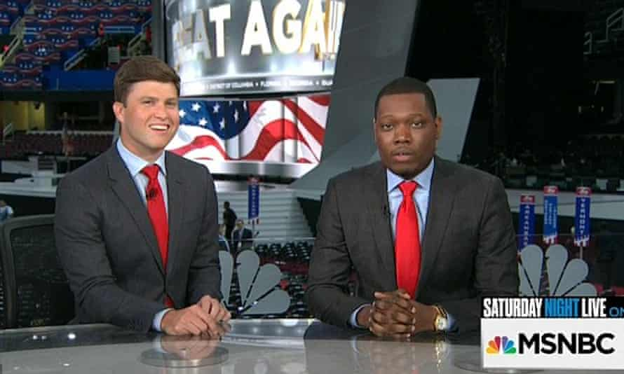 Michael Che and Colin Jost hosted a special version of their Weekend Update segment Wednesday night after the night's speeches
