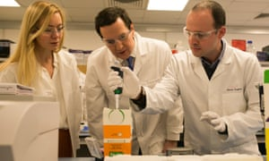 Nicola Blackwood, left, with then-chancellor George Osborne on a visit to a science park in 2014.
