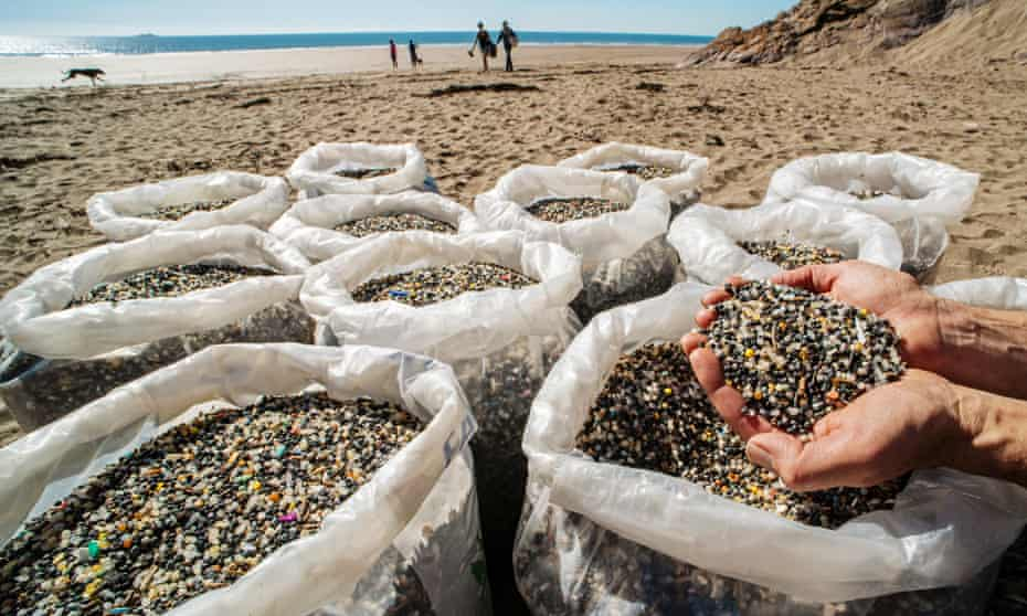 Microplastic contamination sifted from the sands of Tregantle Beach in Cornwall.