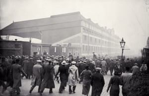 Arsenal fans arriving at Highbury stadium prior to a game against Aston Villa, 17 November 1934.