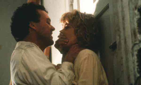 Actors Michael Keaton and Melanie Griffith in Pacific Heights (1990)