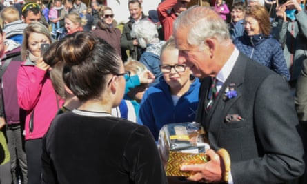 The Prince of Wales, known as the Duke of Rothesay while in Scotland, at the Mey Highland Games in John O'Groats this month.