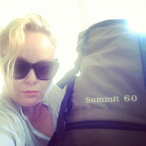 Brigid Delaney pictured with her backpack before her ill-fated hike.