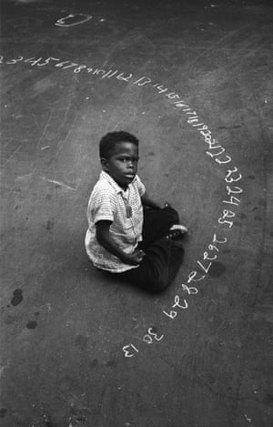 Boy With Chalk Numbers, 1955