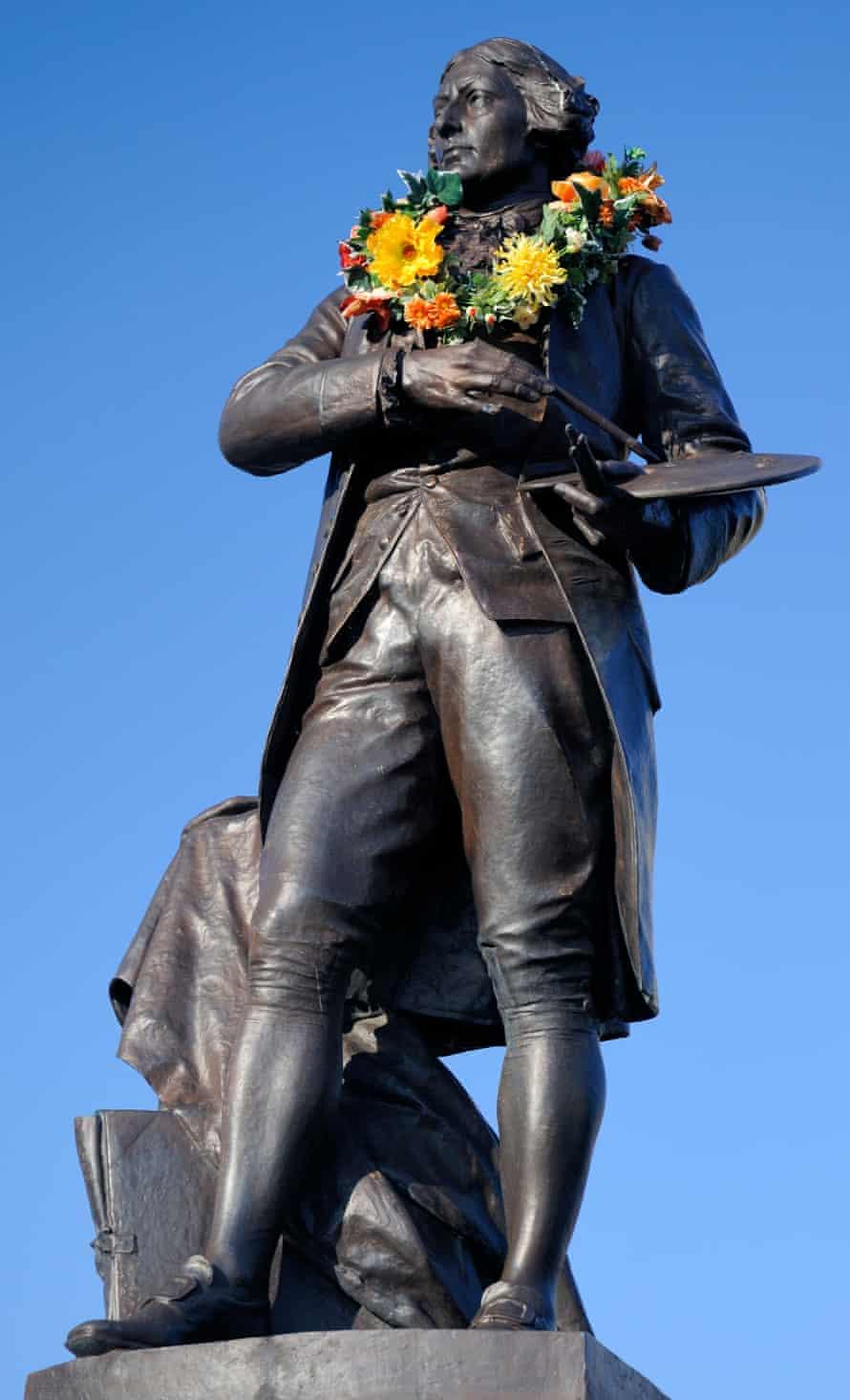 The statue of Thomas Gainsborough in Sudbury, Suffolk.