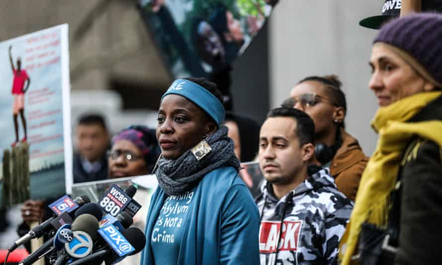 Okoumou said: 'We stand on the right side of history. I am not discouraged.'