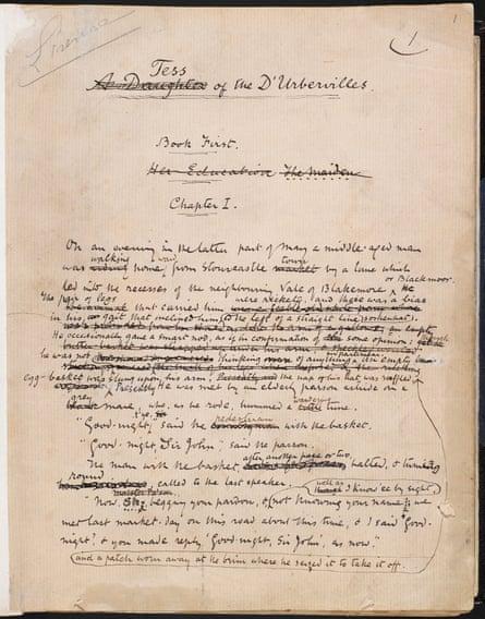 Thomas Hardy's manuscript for Tess of the d'Urbervilles