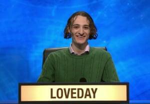 Ted Loveday on University Challenge.