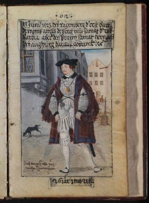 An illustration of Matthäus Schwarz from The First Book of Fashion
