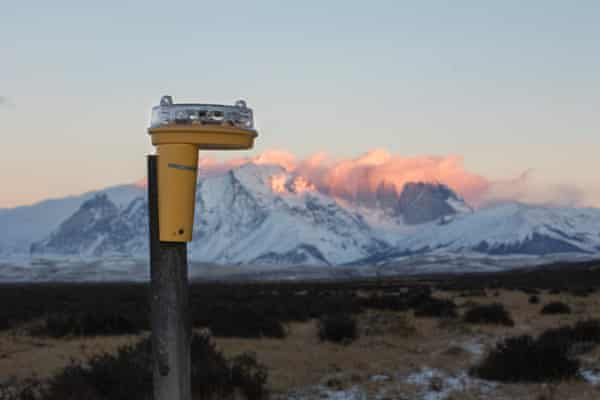 Foxlights self-charge with solar panels have been used to successfully scare away pumas in southern Chile