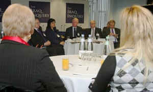The Chilcot panel meets bereaved families of British military personnel killed in the Iraq war.