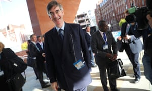 Jacob Rees-Mogg arriving at the Conservative party conference in Manchester.