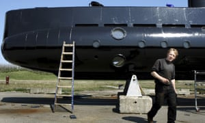 Peter Madsen with his submarine.