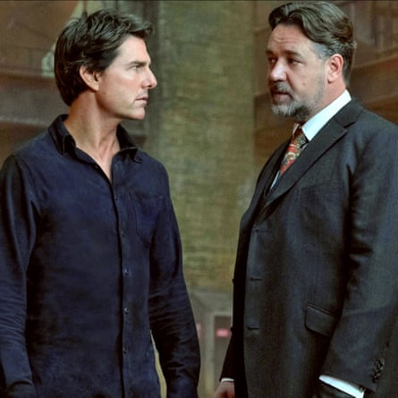 Acting his age? Cruise with Russell Crowe in The Mummy.