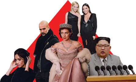 Fashion statements: (from left) Meghan Markle wears M&S; Pep Guardiola supports Catalan independence; Netflix's The Crown; Reese Witherspoon and Eva Longoria at the 2018 Golden Globes, andKim Jong-un in western dress.