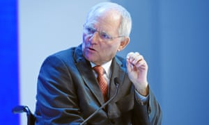 Wolfgang Schäuble, Germany's finance minister, speaking at Davos last week.