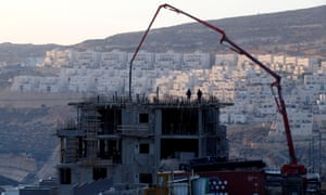 A construction site is seen in the Israeli settlement of Givat Zeev in the West Bank.