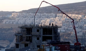 A construction site in the Israeli settlement of Givat Ze'ev, in the occupied West Bank.
