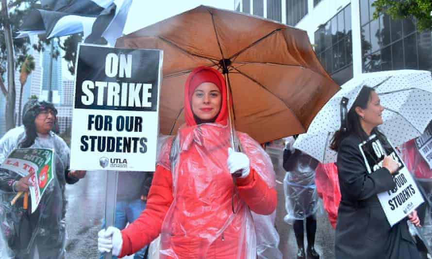Teachers in Los Angeles, California, strike for better pay, funding, and working conditions. Teachers in Denver, Colorado, are set to strike on Monday.
