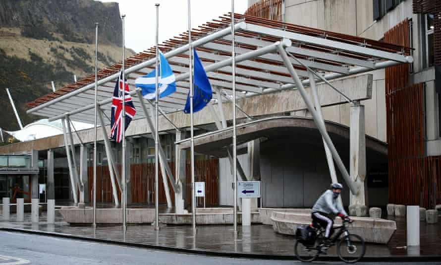 Scottish parliament building in Holyrood, Edinburgh.