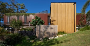 Bundeena Beach House by Grove Architects has a playful interaction between inside and outside, public and private