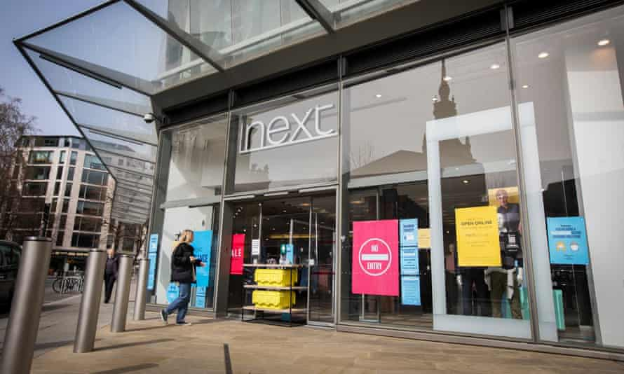 Next clothing shop in the City