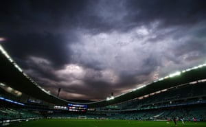 Darkness over the Allianz Stadium before the round five A-League match between Sydney FC and Brisbane Roar