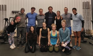 Sirin, front left, at a Crossfit class, her midweek evening outing.