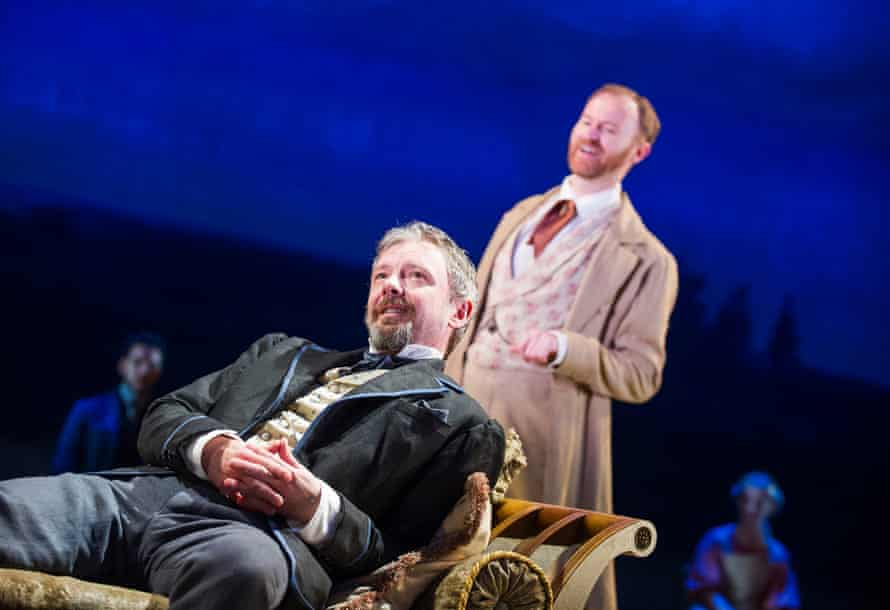 John Simm with Mark Gatiss in Three Days in the Country at the National Theatre, London, in 2015.