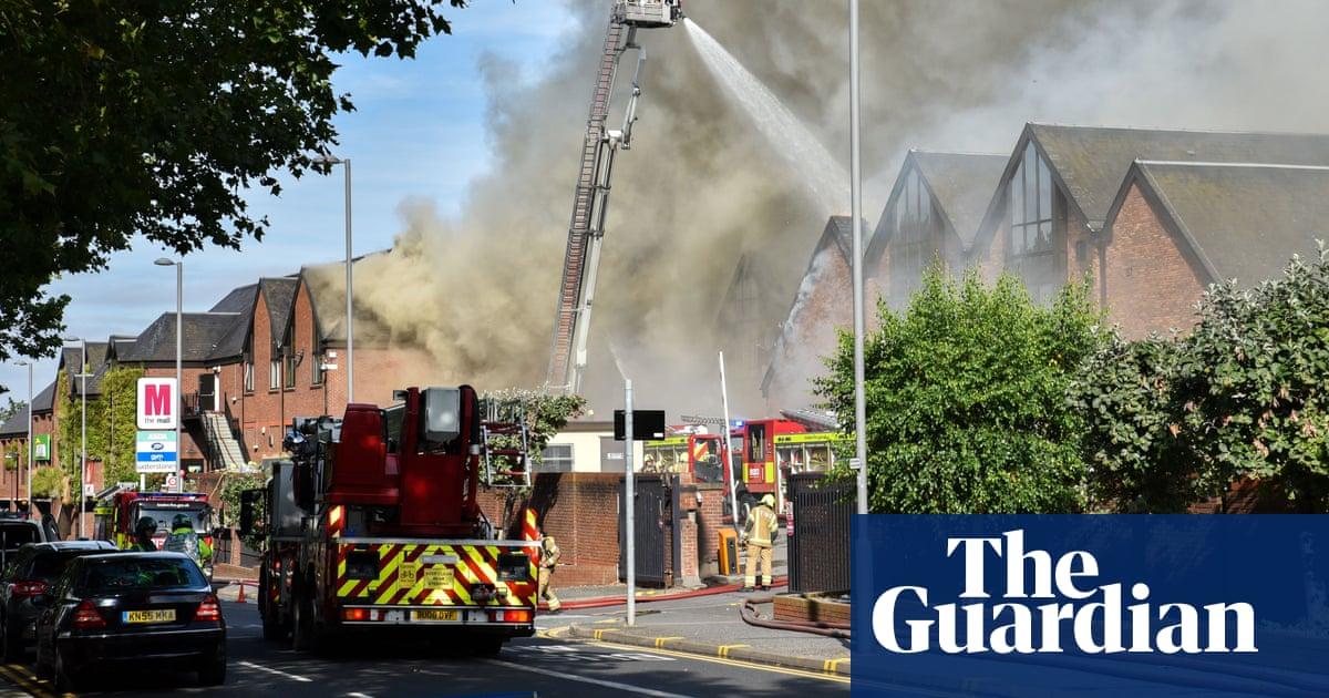 Walthamstow fire: blaze engulfs shopping centre in east London | UK news | The Guardian