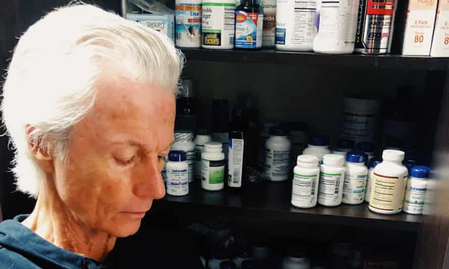 Until the end of time: James Strole, 70, founder of the Coalition for Radical Life Extension in Arizona, with some of the many pills and supplements he takes daily