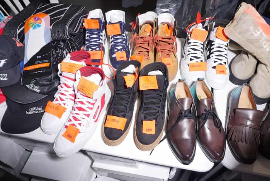 Shoes backstage.