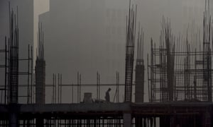 Construction site in Delhi