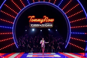 Tommy x Zendaya If you're going to start a show at 9.30pm then you need to entertain your guests – and Tommy Hilfiger knows how. The venue was the Théâtre des Champs-Élysées. For the pre-show there was a staged 70s roller disco. This transformed into the runway for the American actor Zendaya's debut collaboration. Adesuwa Aighewi opened the show and 80s model Pat Cleveland twirled herself around the runway in an asymmetric cocktail dress. Then followed silk dresses, striped jersey, zodiac prints, one on a trench coat and platform boots. Grace Jones closed the show with Pull Up to the Bumper.