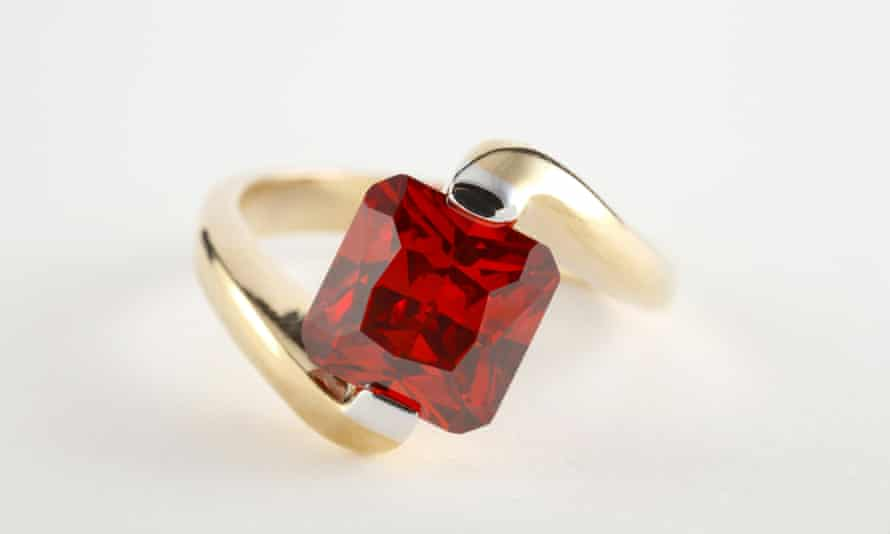 A garnet ring … cheaper and more personal?