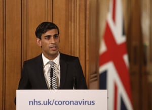 Britain's Chancellor Rishi Sunak gives a press conference about the ongoing situation with the COVID-19 coronavirus outbreak inside 10 Downing Street