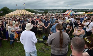 A spontaneous two-minute silence at the Glastonbury festival