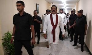 Sri Lanka's former president and newly appointed prime minister, Mahinda Rajapaksa.