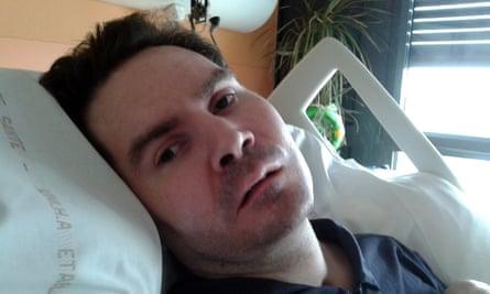 Vincent Lambert in hospital in Reims.